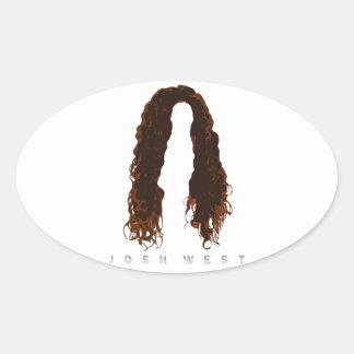 Sticker Ovale Conception des cheveux de Josh