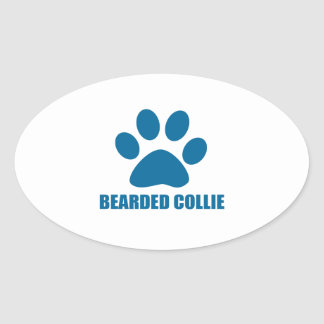 STICKER OVALE CONCEPTIONS BARBUES DE CHIEN DE COLLEY