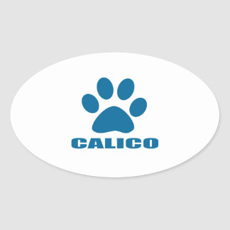 STICKER OVALE CONCEPTIONS DE CAT DE CALICOT
