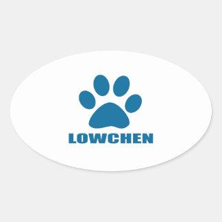 STICKER OVALE CONCEPTIONS DE CHIEN DE LOWCHEN