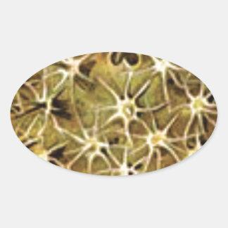Sticker Ovale connexions de cerveau visualisées
