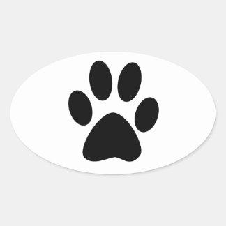 Sticker Ovale Copie de chien