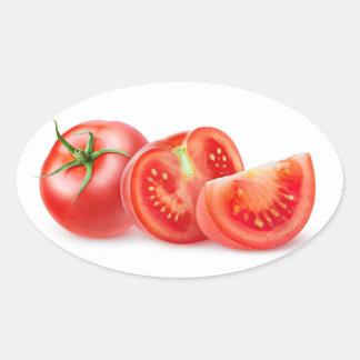 Sticker Ovale Coupez la tomate
