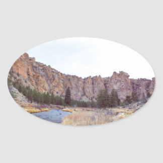 Sticker Ovale Courbure Orégon de roche de Smith