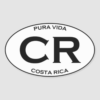 Sticker Ovale CR - Costa Rica