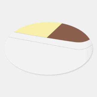 Sticker Ovale Crème glacée napolitain