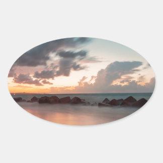 Sticker Ovale Crépuscule