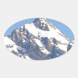 Sticker Ovale crête centrale dans la gamme