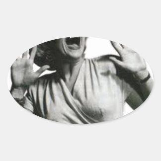 Sticker Ovale Criard de film d'horreur