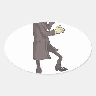 Sticker Ovale Criminel dangereux de tueur professionnel décrit