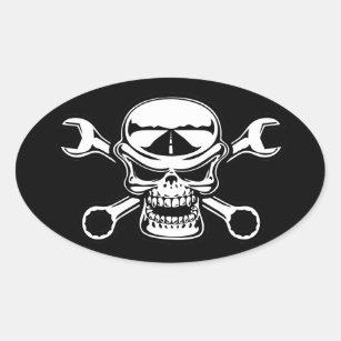 Sticker Ovale Croix-Clés de Chromeboy