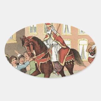 Sticker Ovale Cru néerlandais Saint-Nicolas de St Nick de