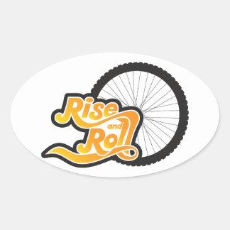 Sticker Ovale cycliste de hausse et de petit pain