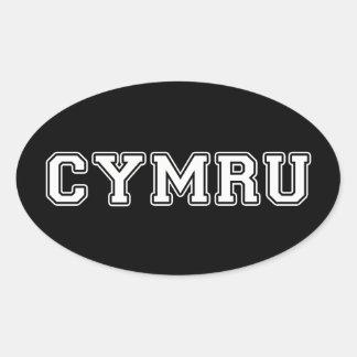 Sticker Ovale Cymru