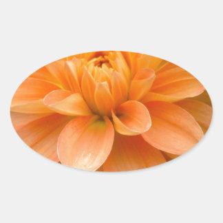 Sticker Ovale Dahlia orange