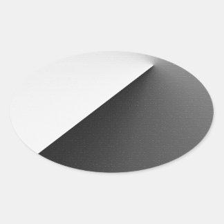 Sticker Ovale De nouveau aux fondements