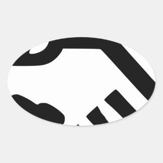 Sticker Ovale De pair