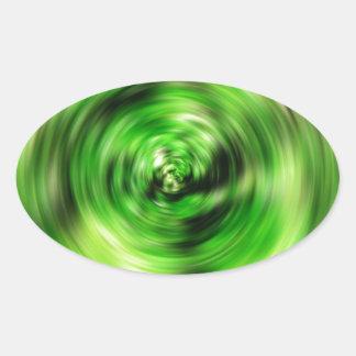 Sticker Ovale DES de couleurs de Digitals beau de tache floue