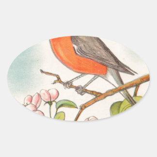 Sticker Ovale Dessin vintage de Robin