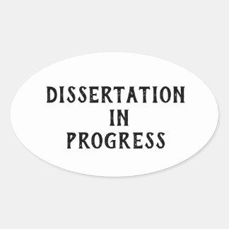 Sticker Ovale Dissertation en cours