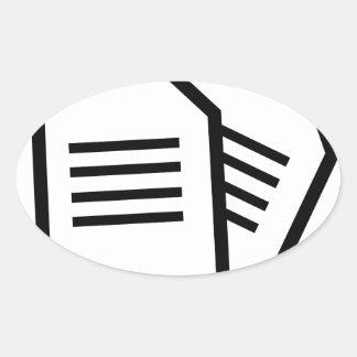 Sticker Ovale Documents sur papier