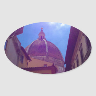 Sticker Ovale Dôme de Brunelleschi à Florence, Italie