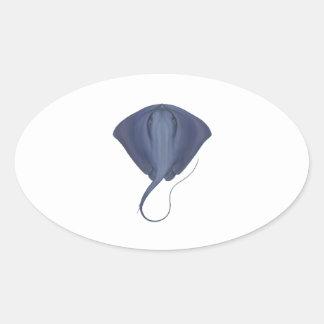 Sticker Ovale Doublures d'océan