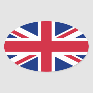 Sticker Ovale Drapeau BRITANNIQUE des syndicats
