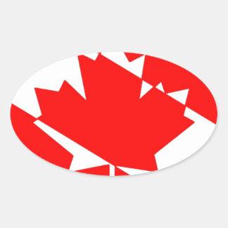 Sticker Ovale Drapeau canadien de plongeur autonome