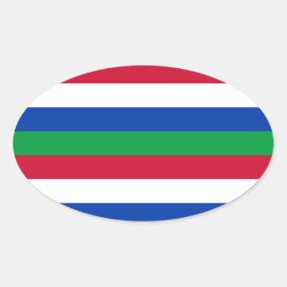 Sticker Ovale Drapeau de Schiermonnikoog