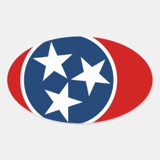 Sticker Ovale Drapeau du Tennessee