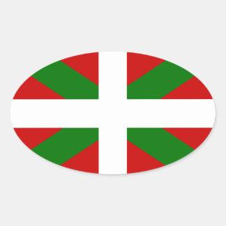 Sticker Ovale Drapeau pays Basque euskadi