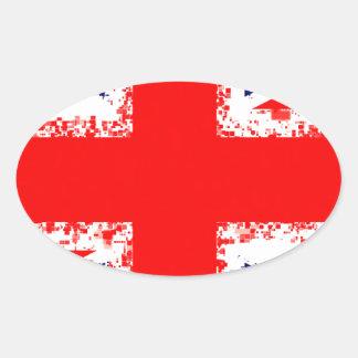 Sticker Ovale Drapeau R-U de Londres de cric des syndicats