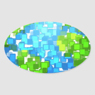 Sticker Ovale earth2
