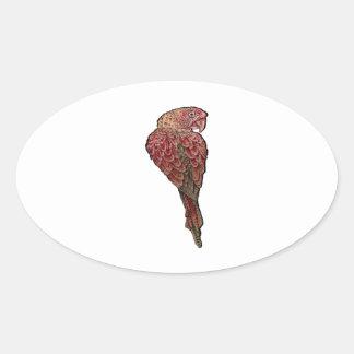 Sticker Ovale Écarlate rouge