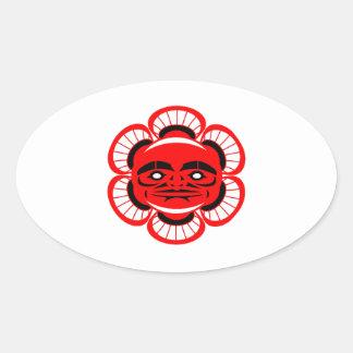Sticker Ovale Éclaircissement spirituel