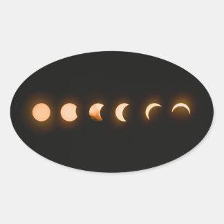 Sticker Ovale Éclipse lunaire de la lune