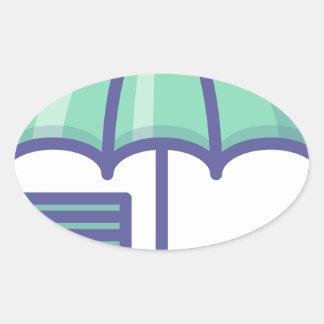 Sticker Ovale Économiser pendant un jour de pluie