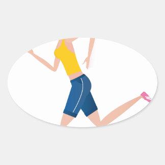 Sticker Ovale Édition courante de fille