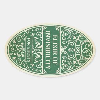 Sticker Ovale Élixir verte d'autocollant de breuvage magique