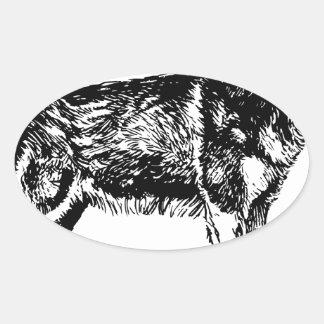 Sticker Ovale Enroué
