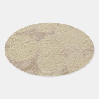Sticker Ovale Épices chaudes - ombre, Flowrals, points, lustre