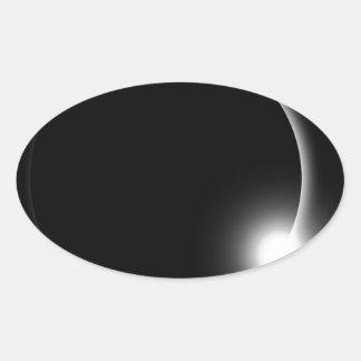 Sticker Ovale Éruption chromosphérique de fusée de Sun d'éclipse
