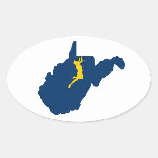 Sticker Ovale Escalade de la Virginie Occidentale