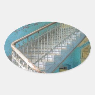 Sticker Ovale Escaliers 01,0, endroits perdus, Beelitz