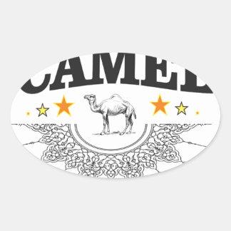 Sticker Ovale étoiles du chameau