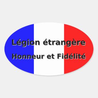 Sticker Ovale Etrangere de légion - Honneur et Fidelite