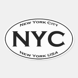 Sticker Ovale Euro logo d'ovale de style de NYC