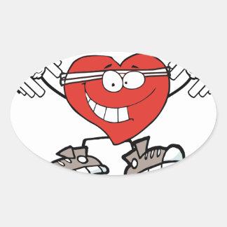 Sticker Ovale exercice heart2