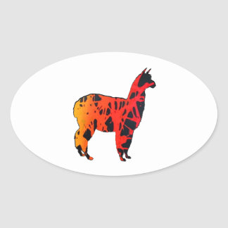 Sticker Ovale Expressions de lama